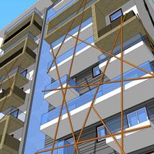 mat architettura Studio di facciata del fabbricato di nuova costruzione in Corso Monte Cucco Torino