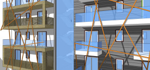 mat architettura render palazzo