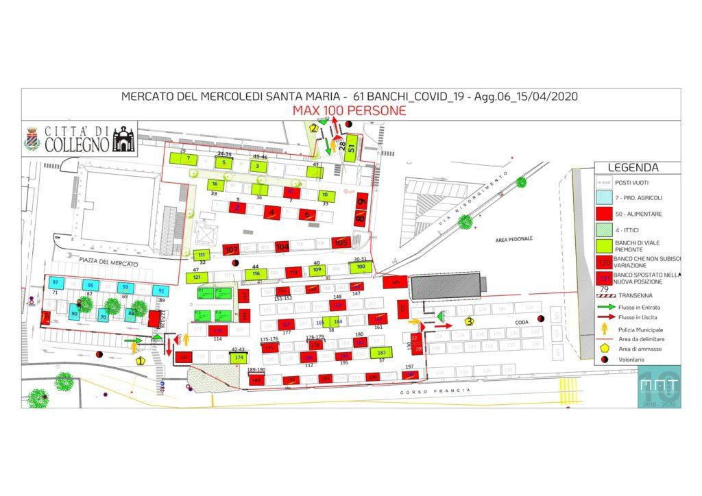 planimetria mercato per covid
